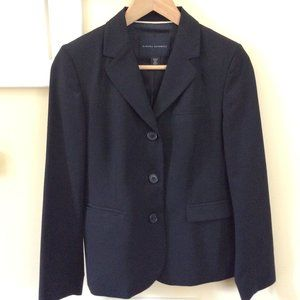 Banana Republic 6P Black Wool Blazer, Lined